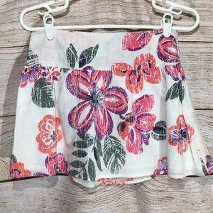 Aeropostale XS floral zipper skirt 530